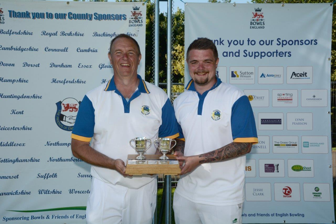 Gary Morphet and son Craig, winners of National Family Pairs competition in 2016 at Leamington