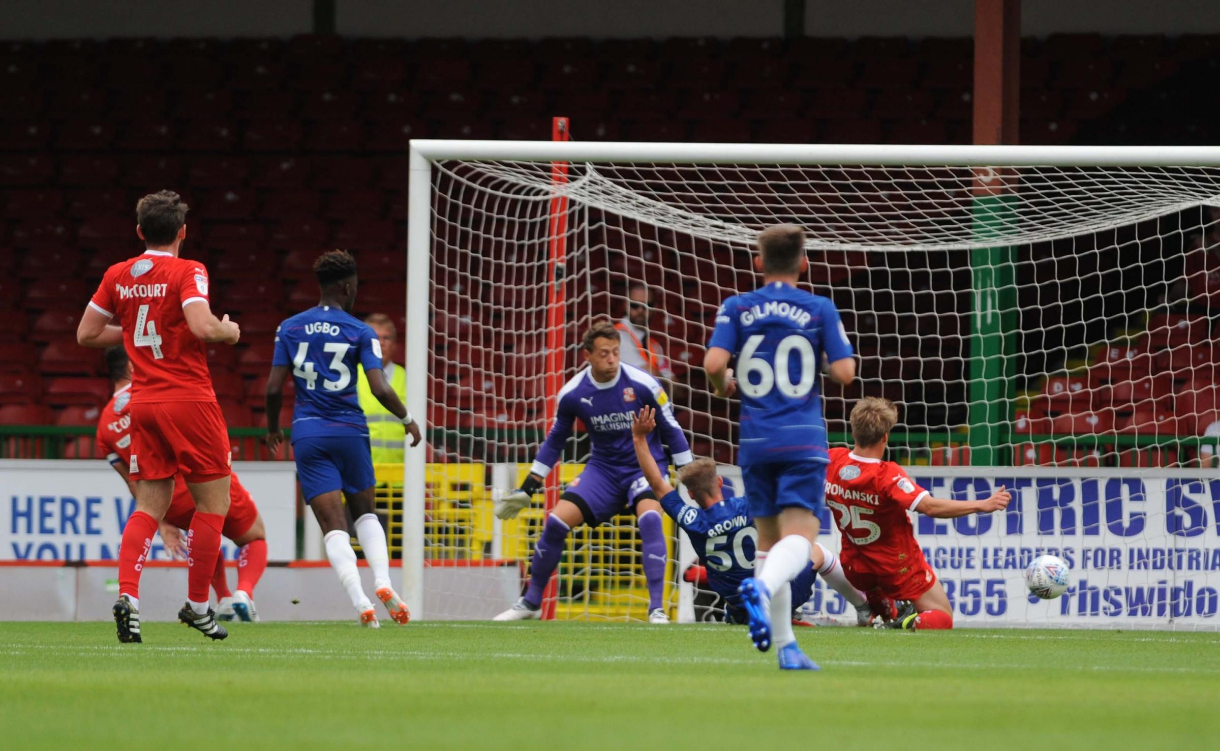 STFC v Chelsea under21's      Pic Dave Evans.Charlie Brown opens the scoring for Chelsea.