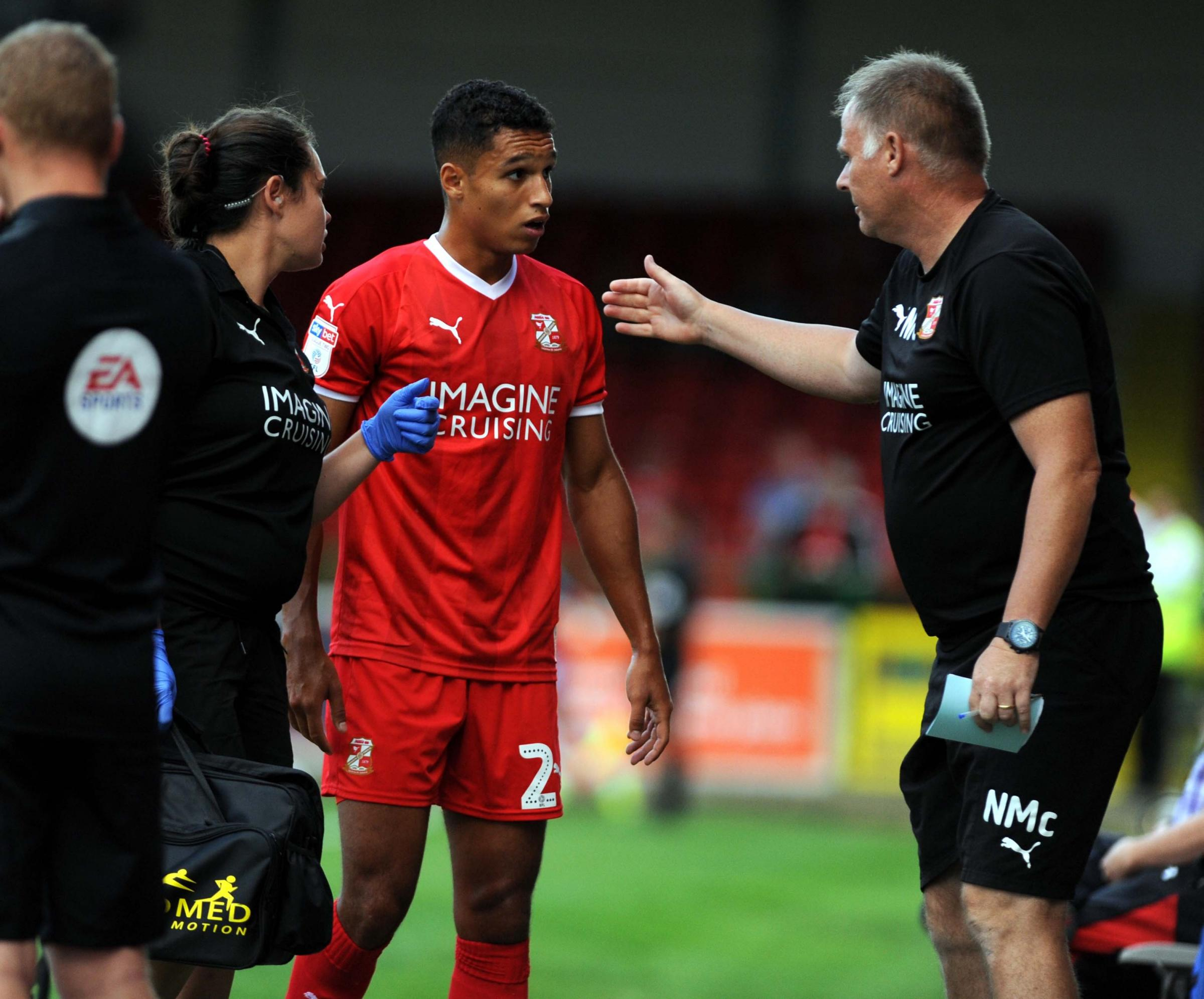 STFC v Chelsea under21's      Pic Dave Evans.Kyle Knoyls has to leave the field injured.