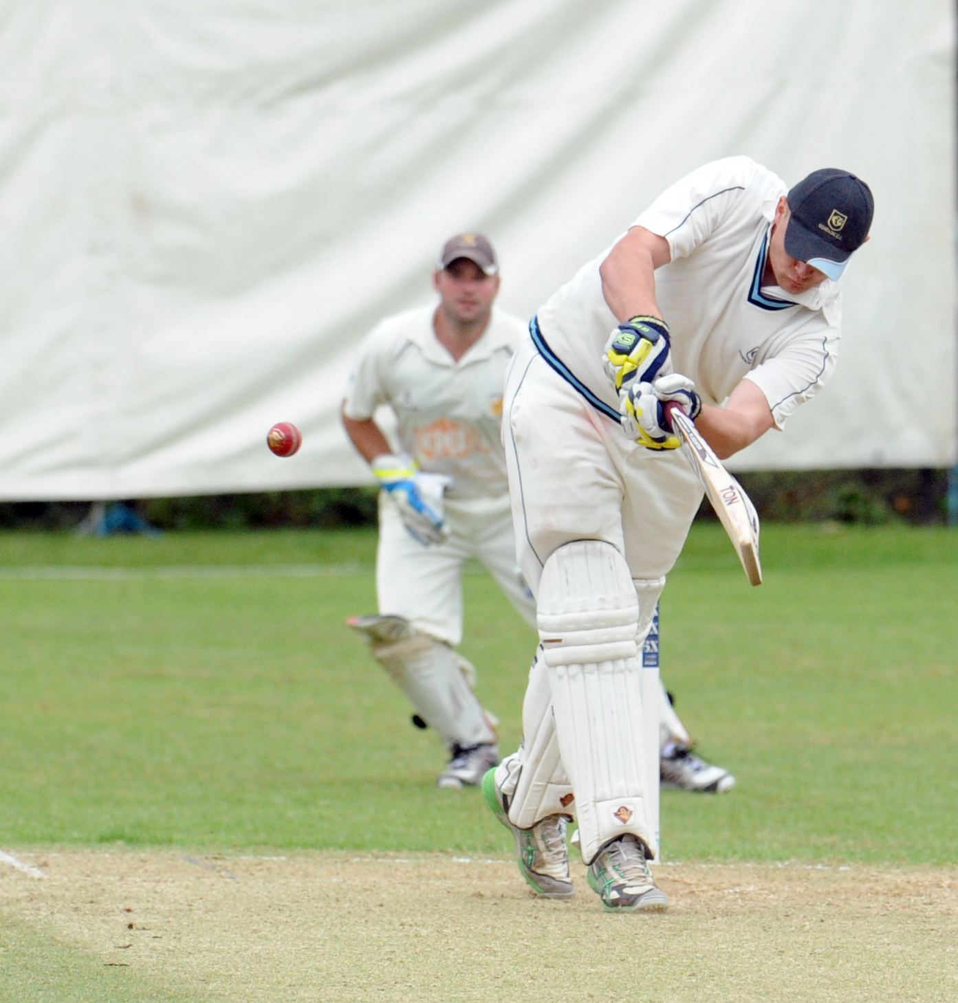 WIltshire opener Jack Haines was 80 not out at the end of day one