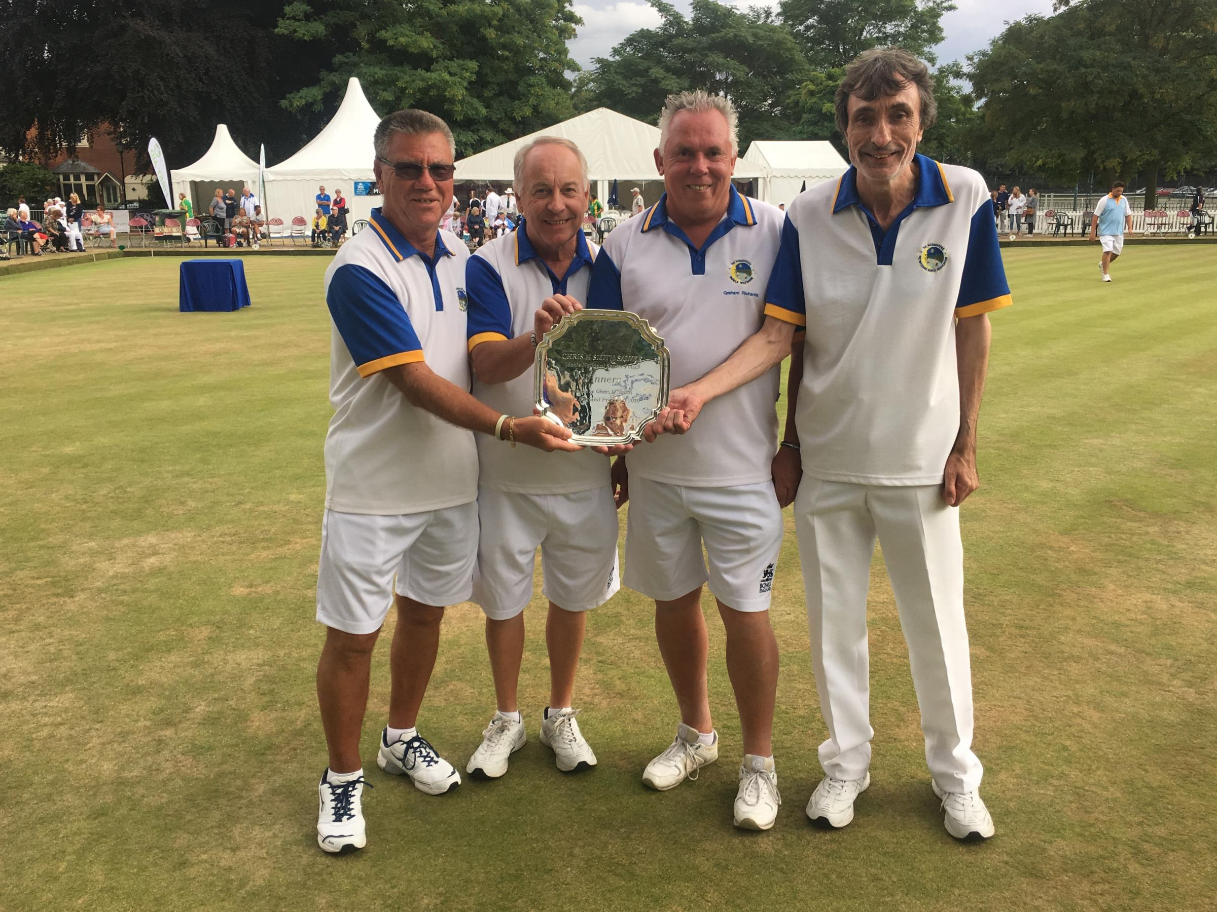 Royal Wootton Bassett's triumphant men's senior fours team (l-r): Dave Snell, Alan Small, Graham Richards and Kevin Embling