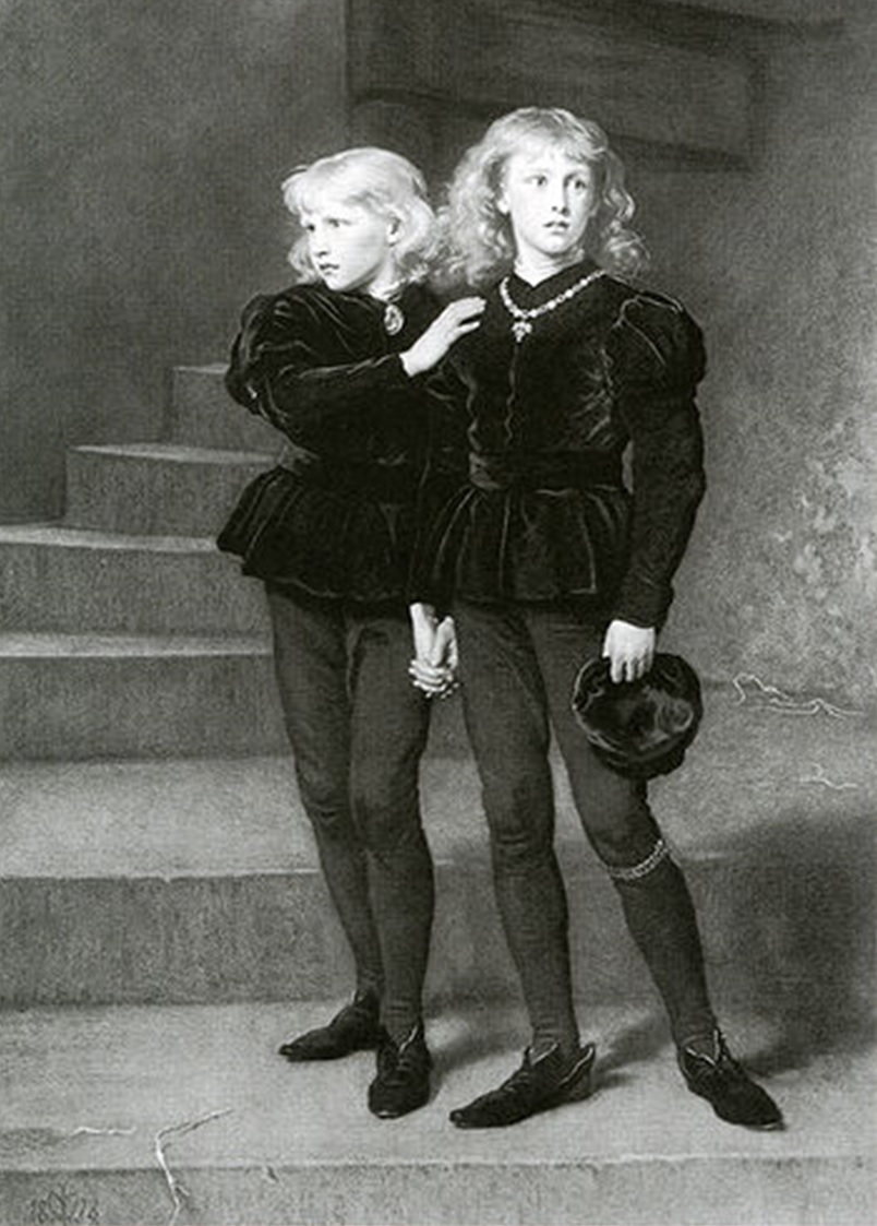 The Princes in the Tower by Samuel Cousins after Sir John Everett Millais.