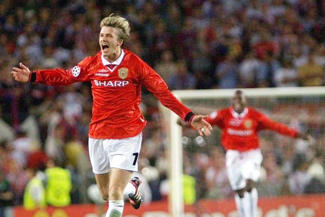 David Beckham won the 1999 UEFA Champions League with Manchester United