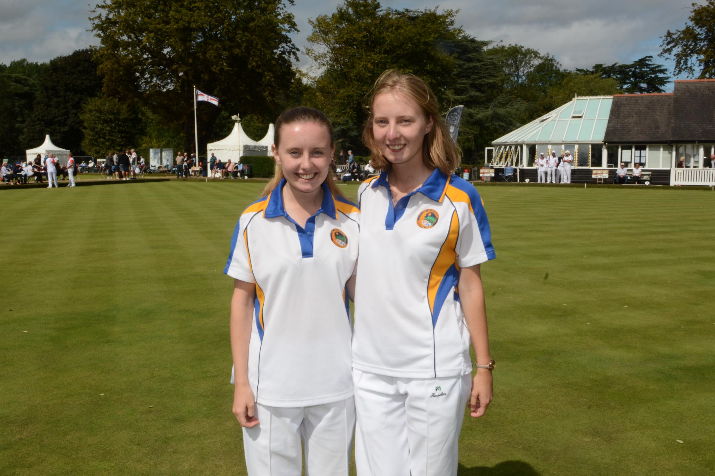 Lucy and Katy Smith, the losing finalists in ladies national junior pairs