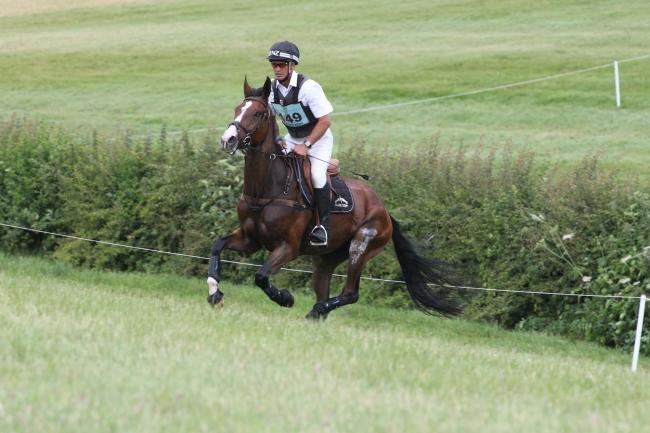 Andrew Nicholson- Jet Set IV. Barbury Horse Trials. Picture: TIM CRISP.