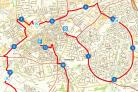 The route map for this year's New Swindon Half.