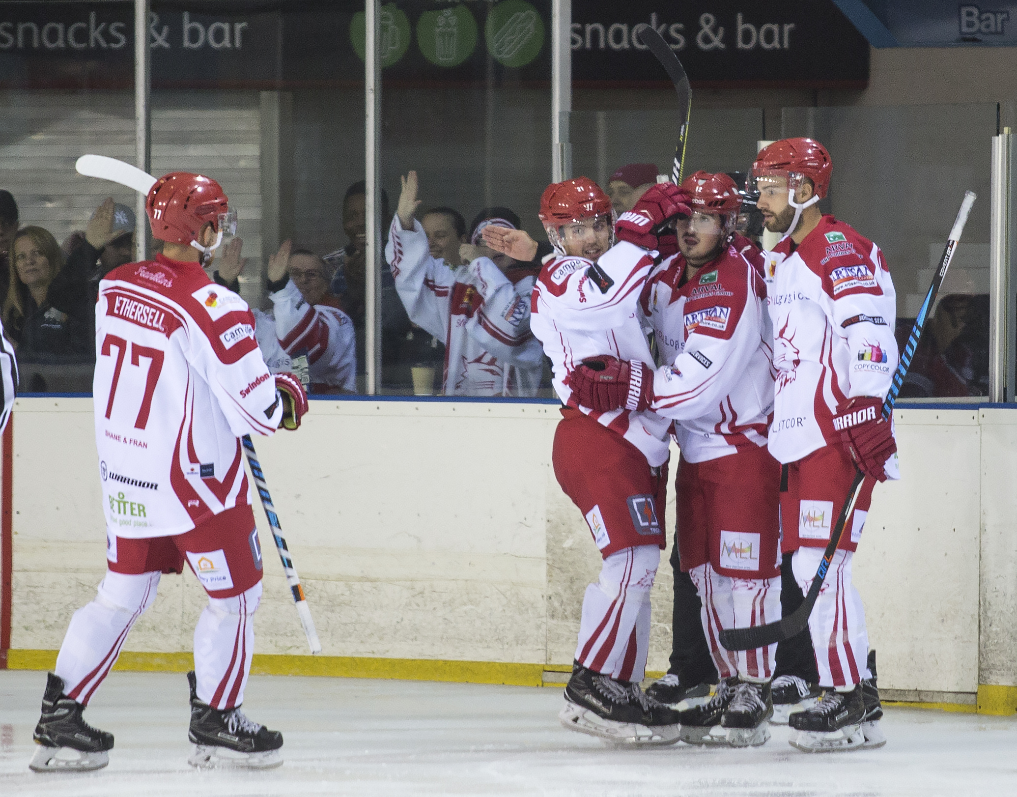 Swindon Wildcats Vs Streatham, Floyd Taylor goal, Picture Ryan Ainscow 08.09.18.