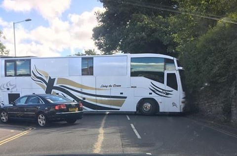 The coach on Kingshill Road. Picture: Liz Haunton