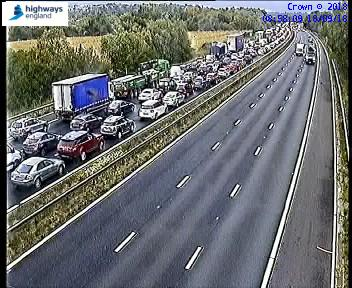 BREAKING: Crash closes two lanes on M4 at Swindon