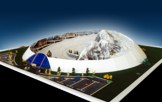 An artist's impression of the proposed ski dome in Swindon