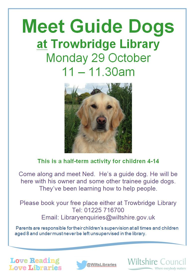 Meet Guide Dogs at Trowbridge Library