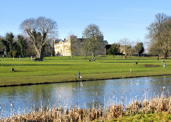 Travellers set up camp in Lydiard Park grounds