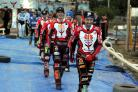 Swindon Robins v King's Lynn     Pic Dave Evans     10.9.18.The parade of the Robins..
