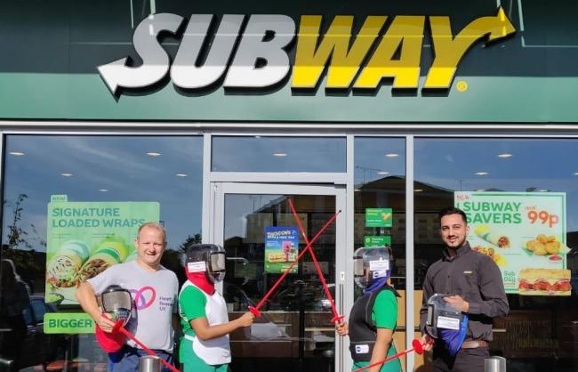 Subway help fund local health project