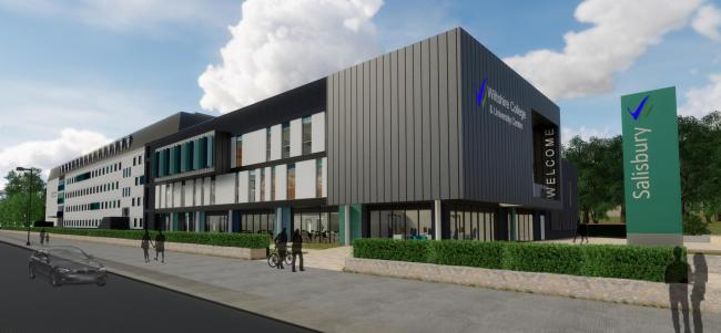 Artist's impression of Wiltshire College & University Centre's Salisbury Campus following the redevelopment work