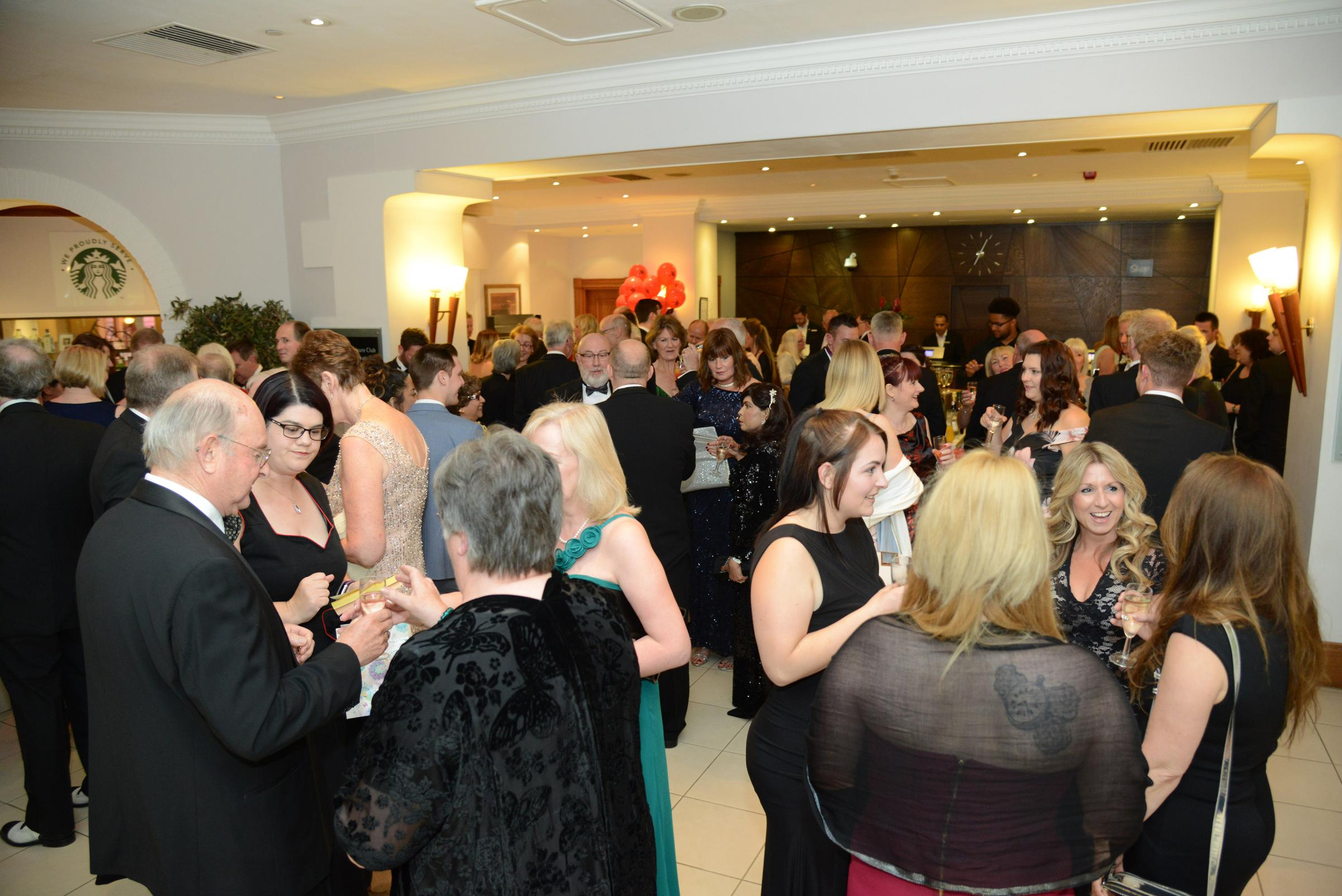 Charity Ball at the Marriott Hotel. Pictured guests at the reception..14/05/176 Thomas kelsey.
