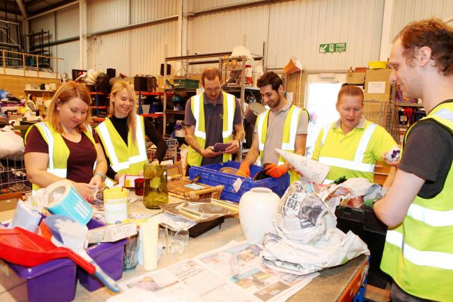 Volunteers at Prospect's distribution centre at Wroughton Business Park