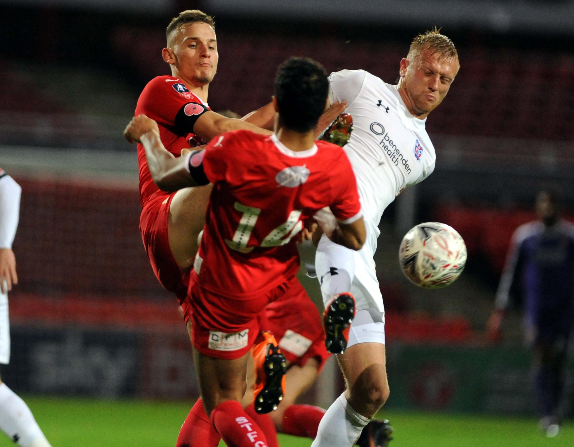 STFC v York City         Pic Dave Evans       10/11/18.Luke Woolfenden and Kyle Knoyle combine to halt a York attack..