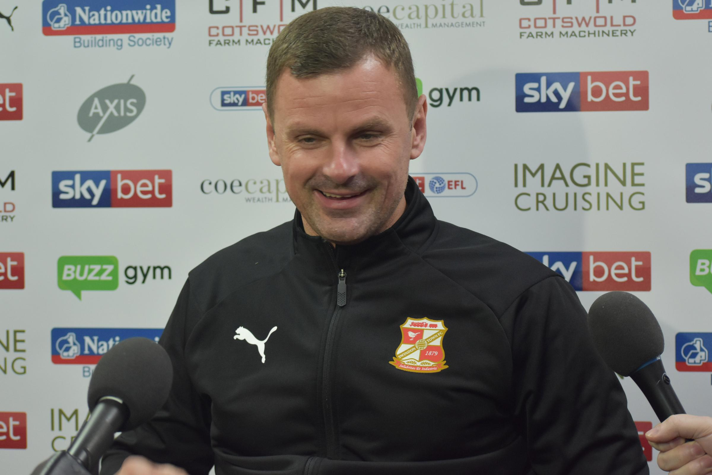 Richie Wellens speaks to Swindon Town's media for the first time..