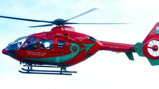If you saw the air ambulance flying over the town centre, here's why