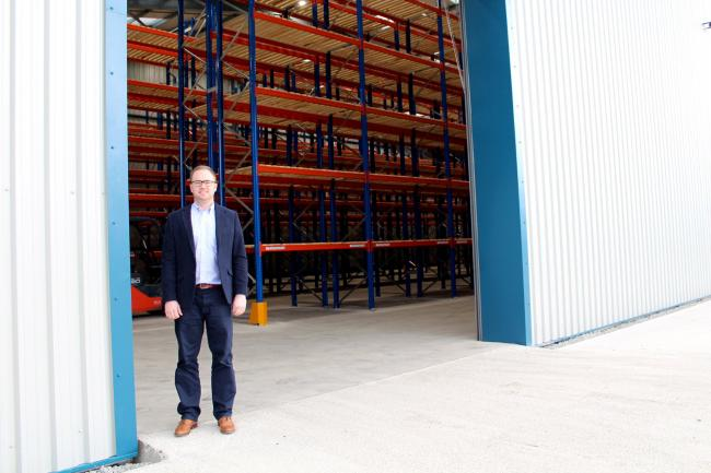 GWP Operations manager James Pedley inside the new warehouse in Cricklade