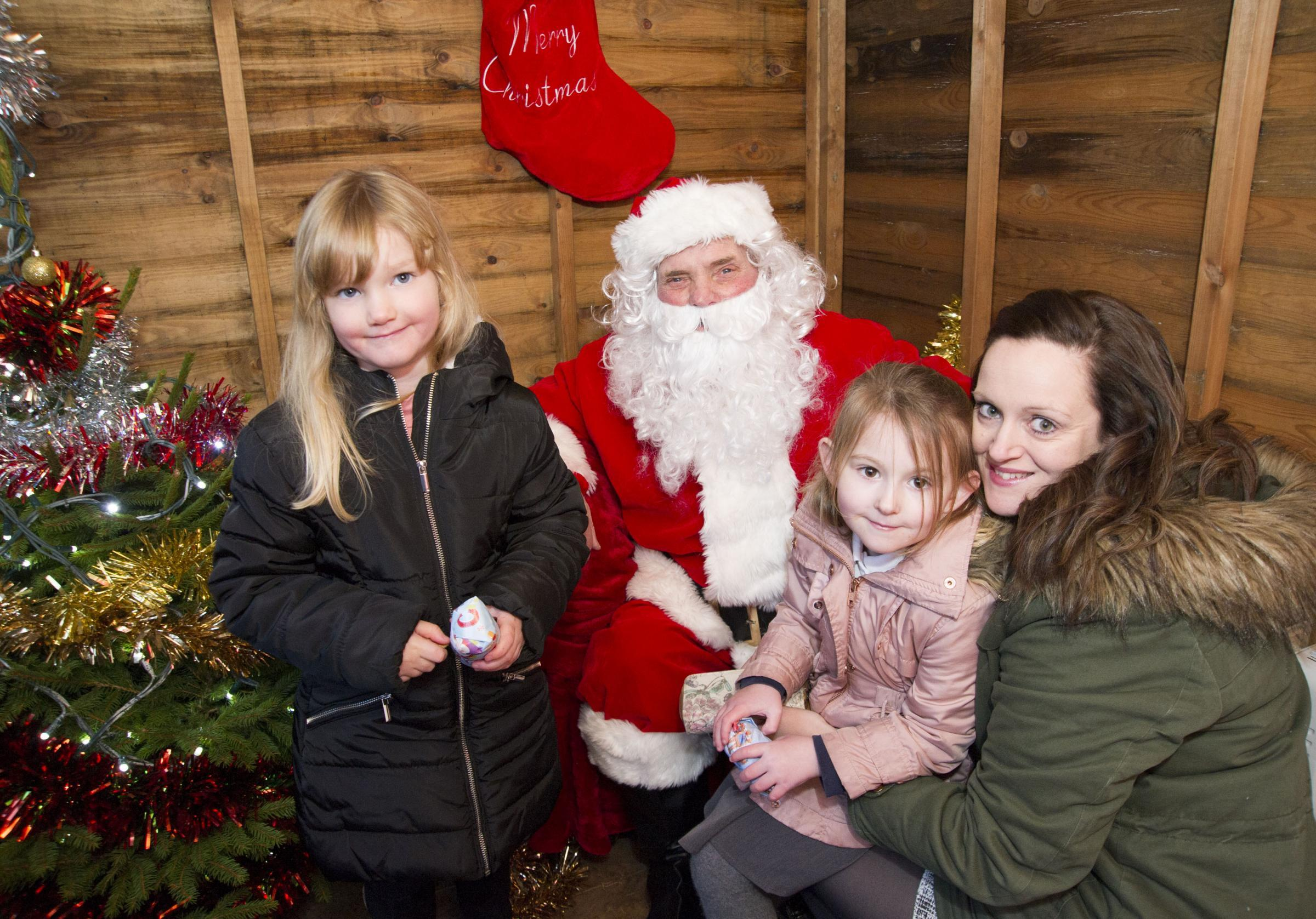 Youngsters meet Santa at last year's Stratton Christmas Extravaganza.