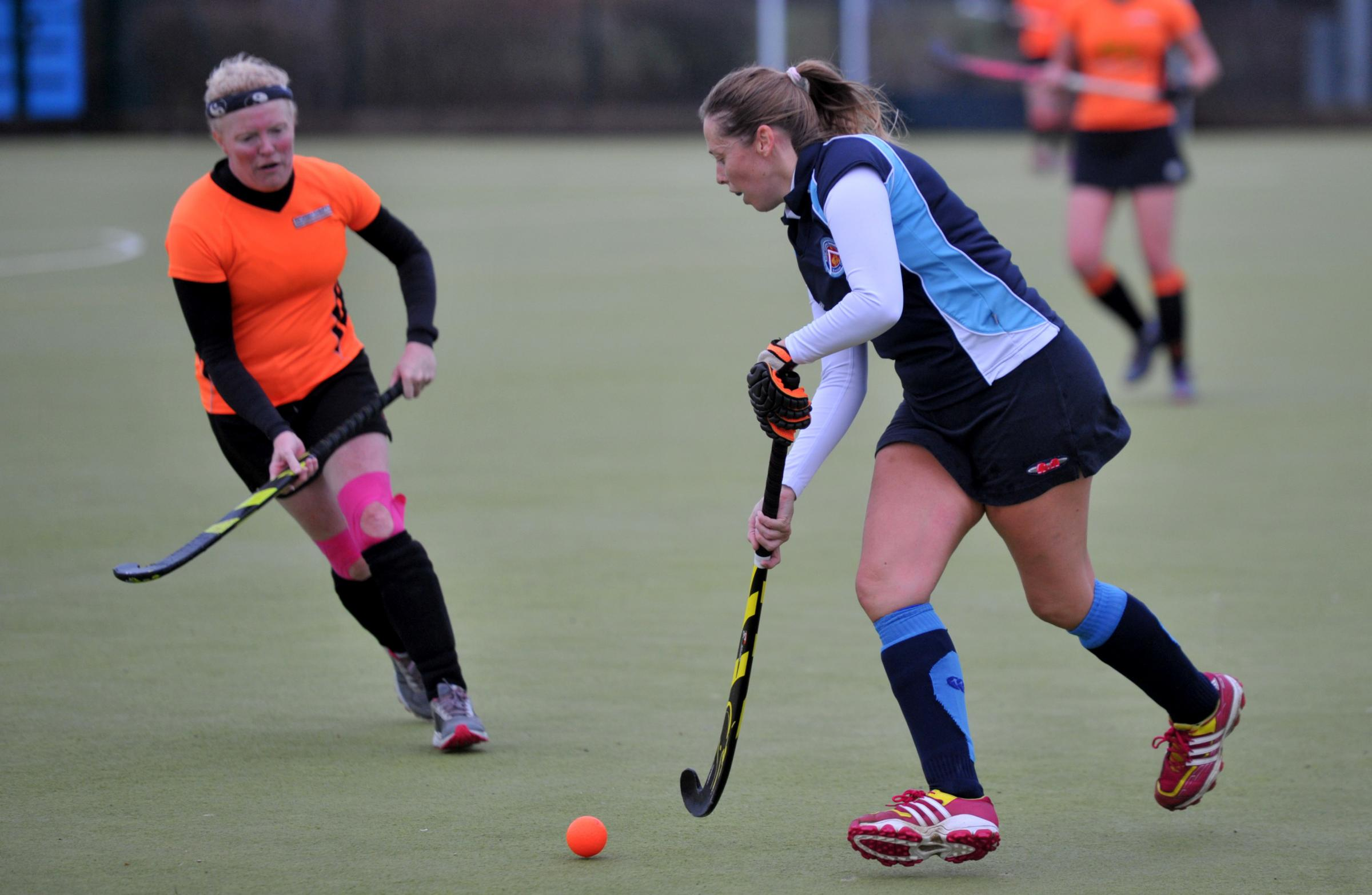 Hockey Swindon 2 v Royal Wootton Bassett 2 at Redhouse school..Pic - Vicky Salmon- WB - right .Date 2/12/18.Pic by Dave Cox.