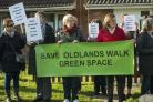 Protest about the council wanting to sell of green land at Oldlands Walk and Lawn for housing .17/11/18.www.claregreenphotography.com.