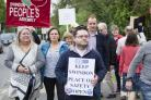 Pic - gv.Date 23/9/17.Pic by Dave Cox.Keep Our NHS Public are protesting the closure of the Sandalwood Court place of safety. ...
