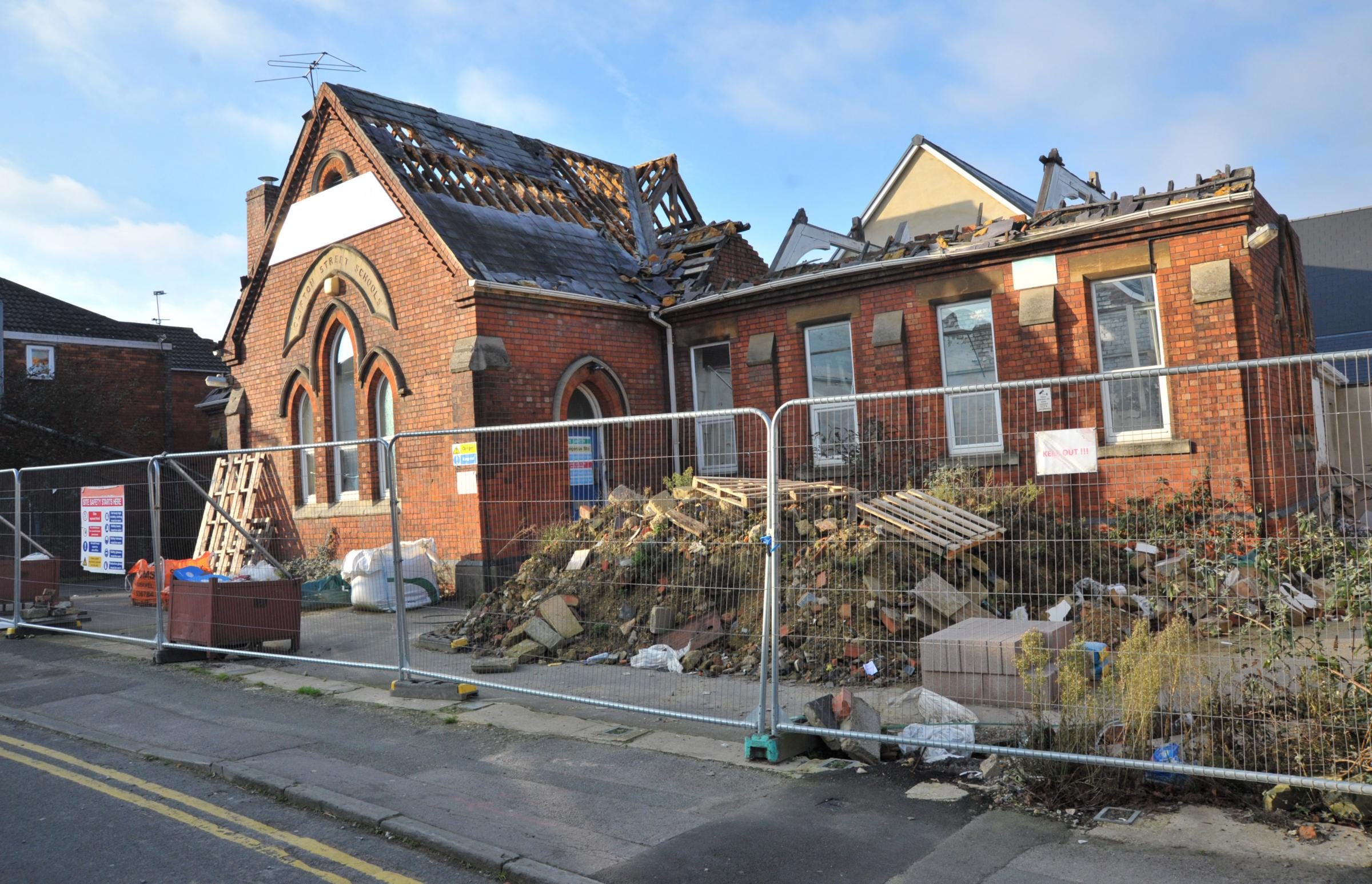 Clifton Street school is to be demolished this year..Pic - gv.Date 4/1/18.Pic By Dave Cox.