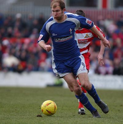 Sam Parkin during his first spell at Swindon Town against Doncaster in 2005