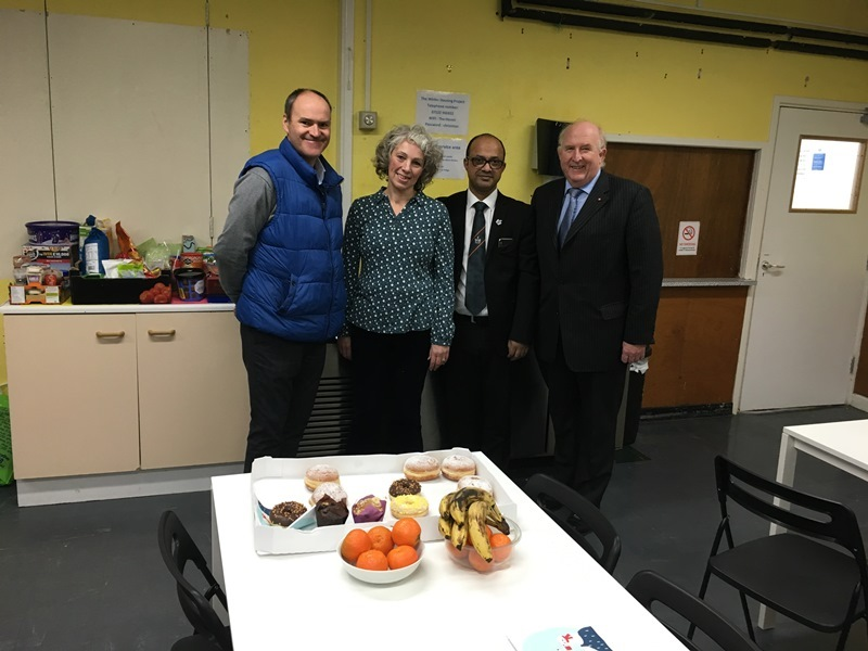 Mike Ash (Head of Housing), Coun Cathy Martyn, Coun Junab Ali and PCC Angus Macpherson.