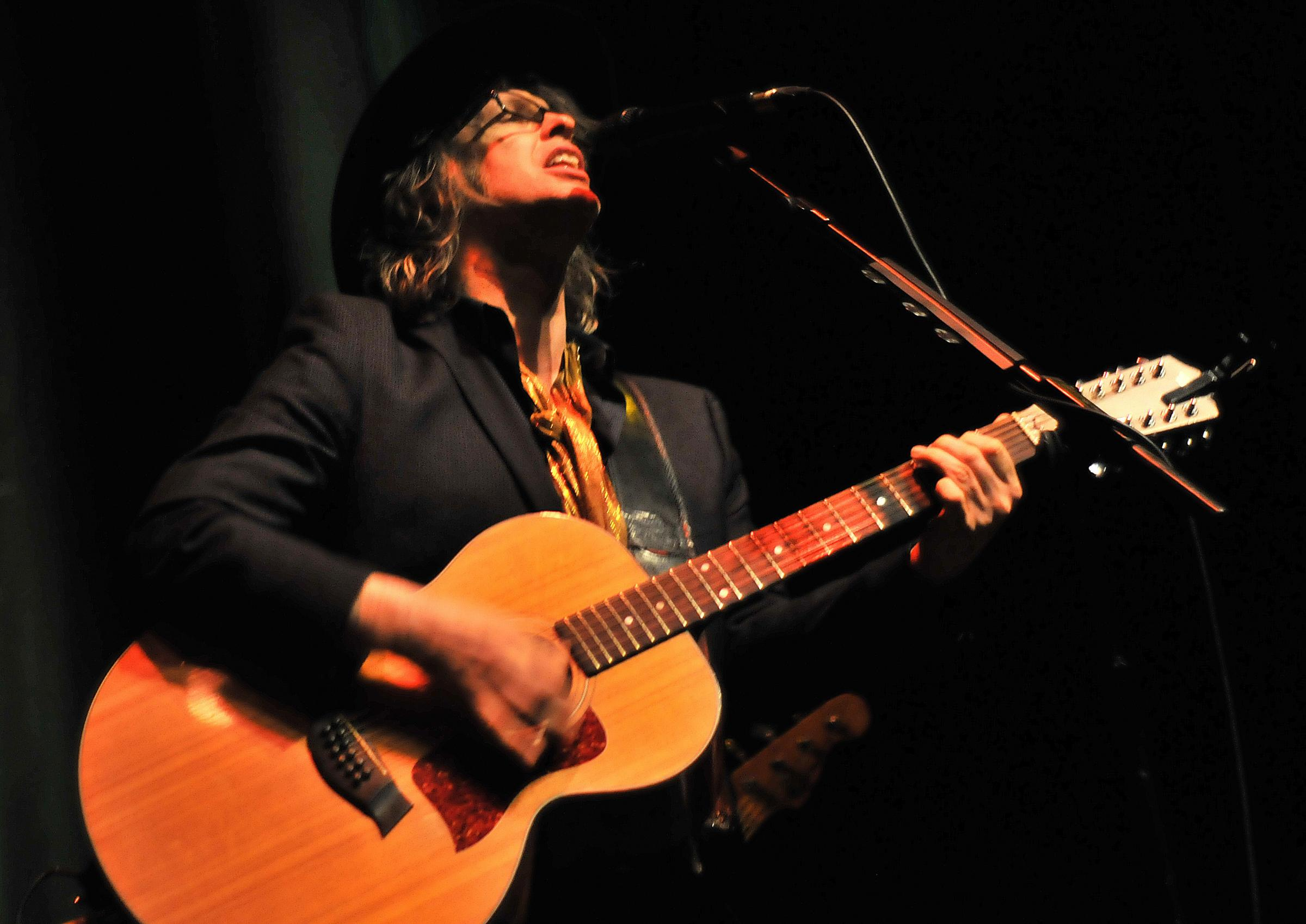The Waterboys lead singer Mike Scott, during Wednesday nights performance at York Barbican. Picture David Harrison.