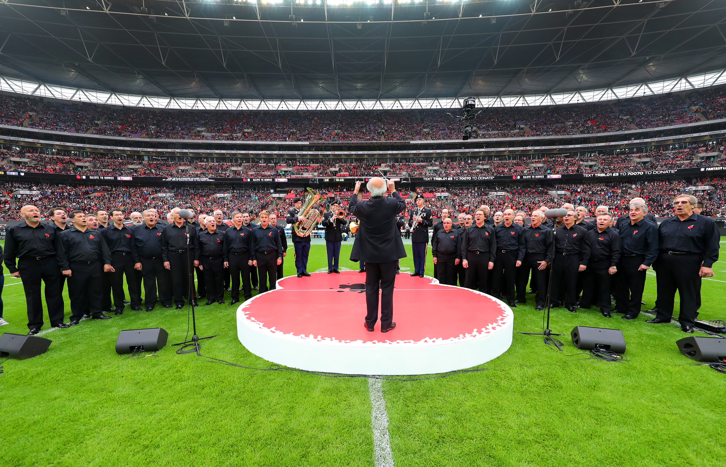 We've even sang on the turf, in front of 42,000 people at Wembley