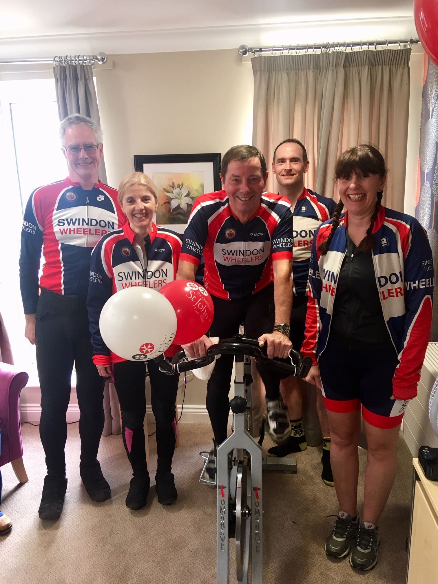 Swindon Wheelers took part in a 24hr sponsored cycle.