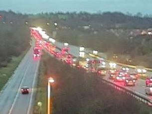 A419 traffic queues on Thursday morning