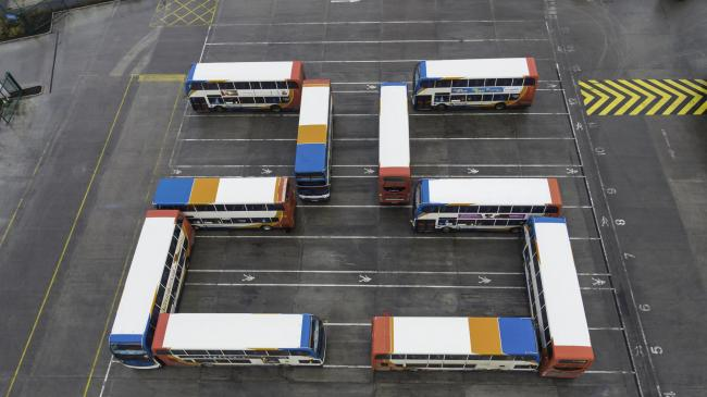 Stagecoach Drivers At The Swindon Depot Say Happy Birthday 25th With
