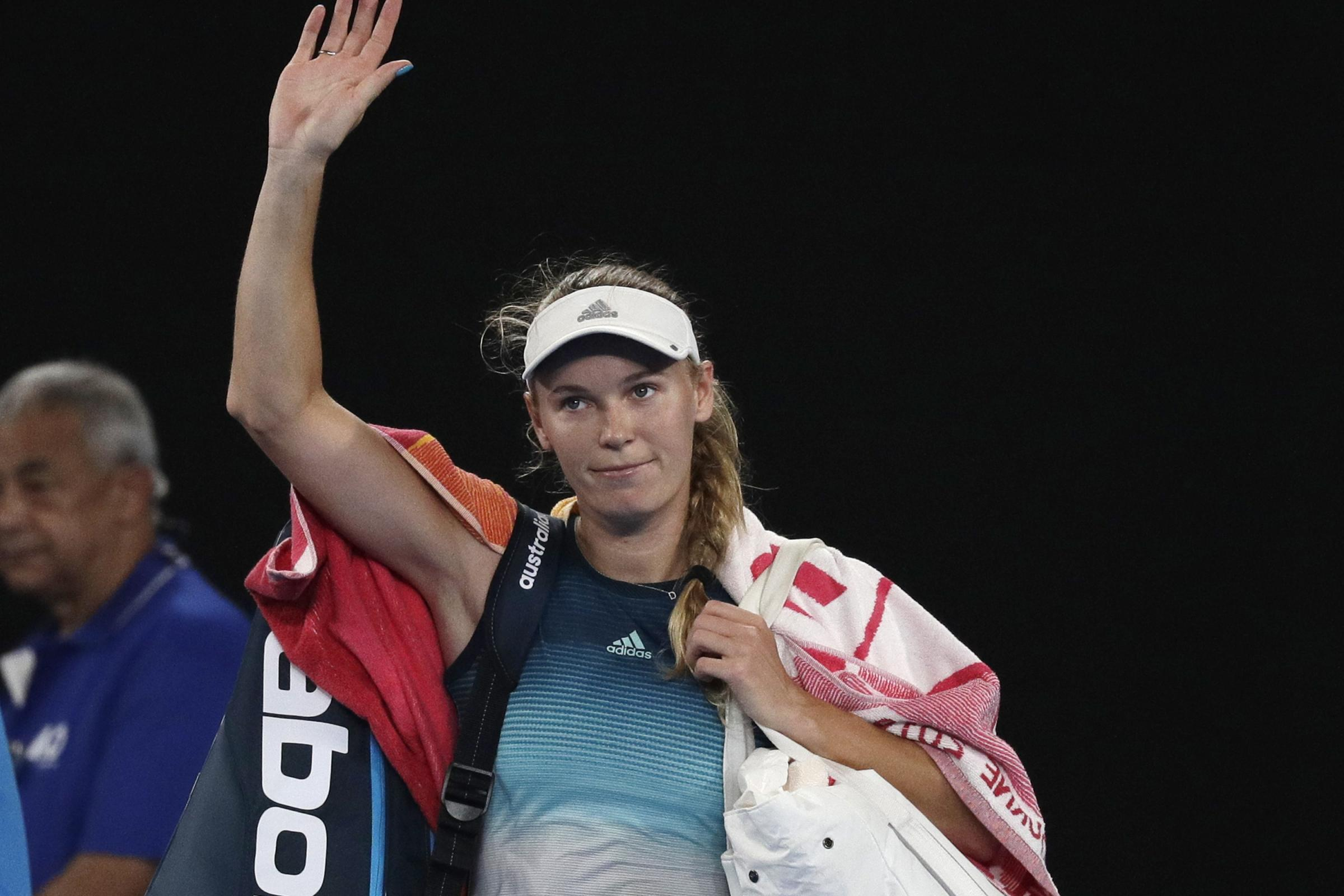Defending champion Caroline Wozniacki had to say goodbye to the Australian Open