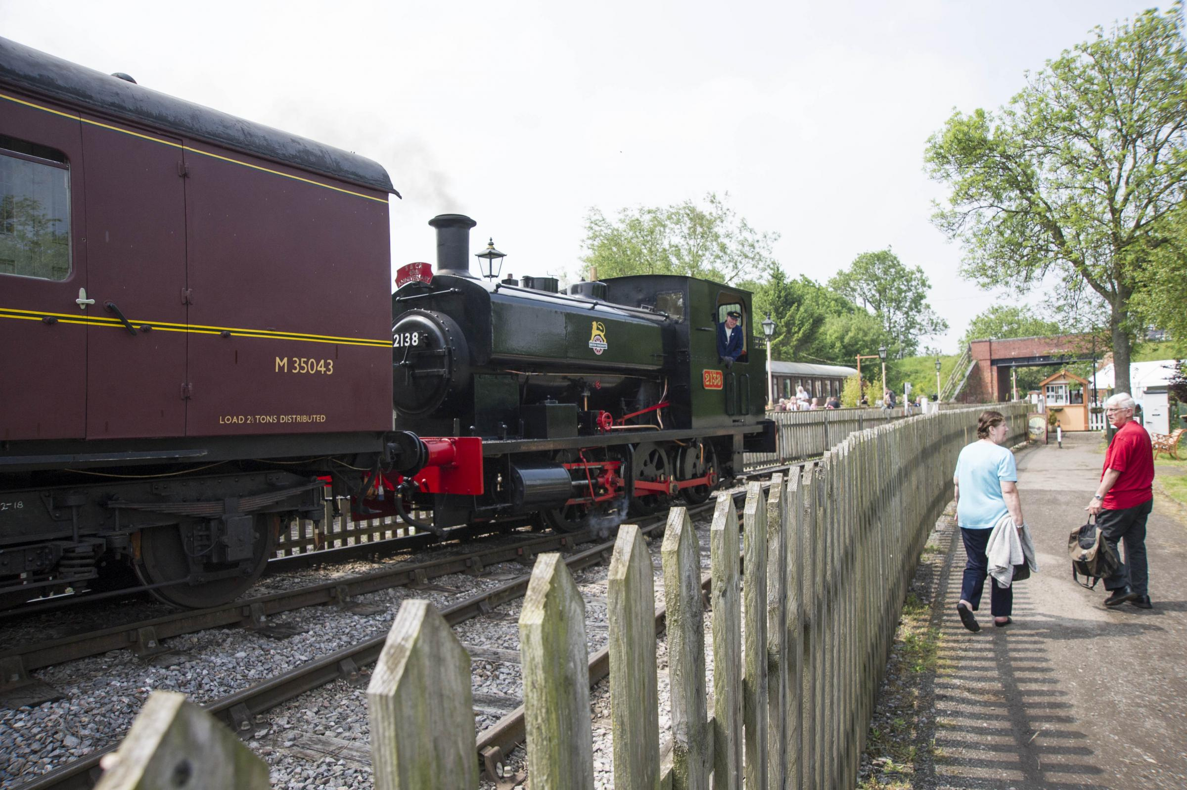 Ale and cider festival at Swindon and Cricklade Railway..Pic - gv.Date 27/5/18.Pic  By Dave Cox.