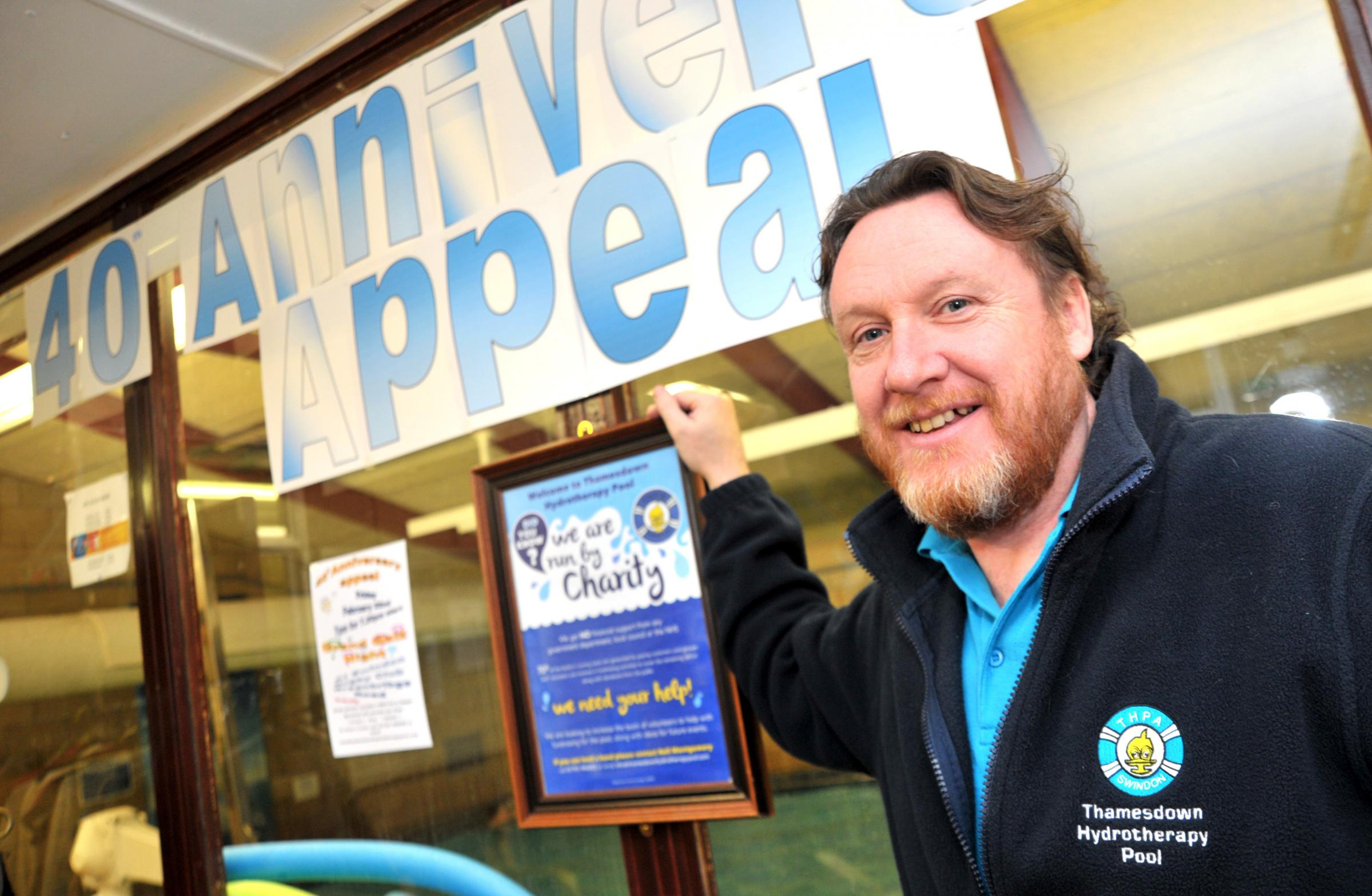 Neil Montgomery aims not just to raise money but also to raise Thamesdown Hydrotherapy Pool's profile during its 40th anniversary year