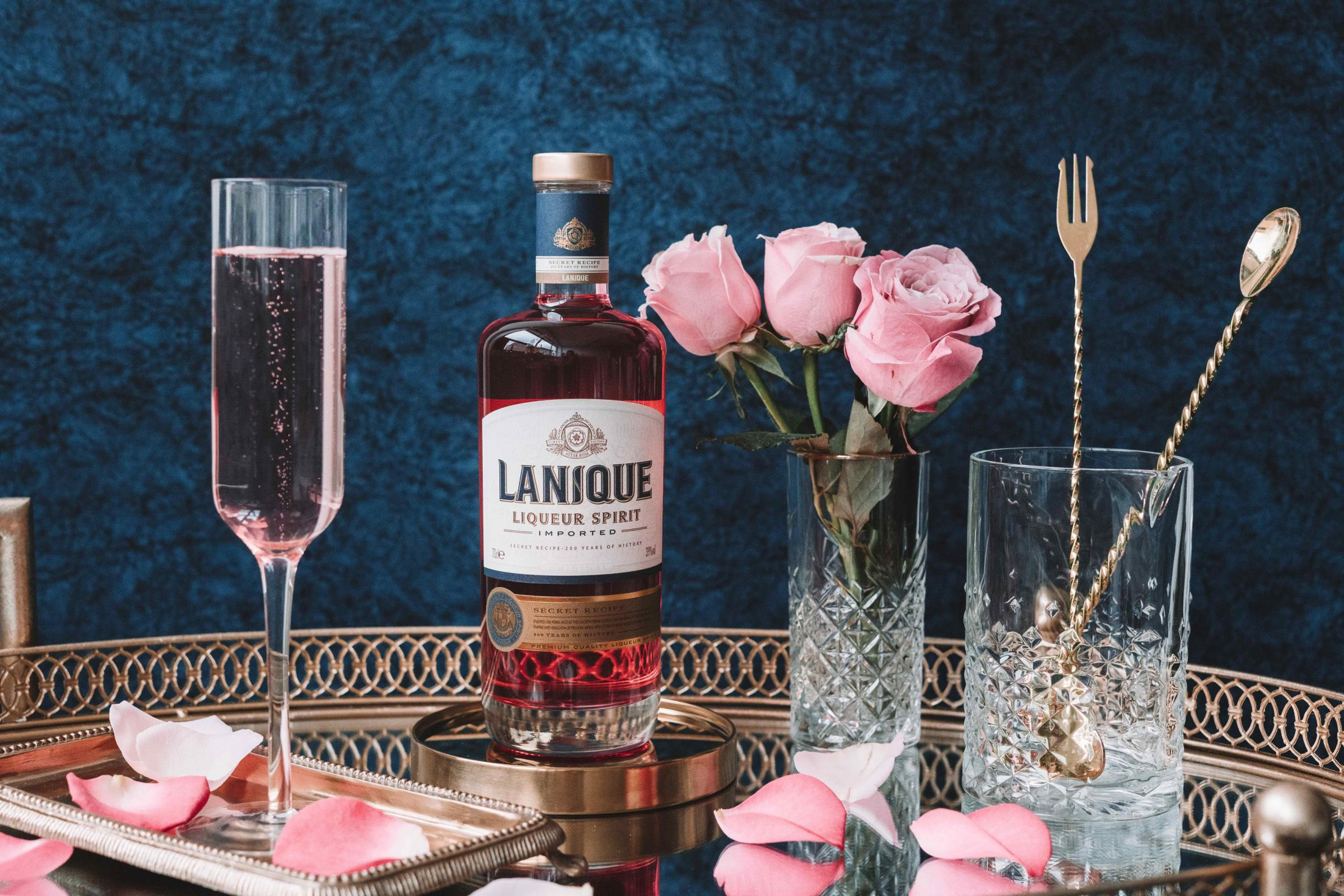 Undated Handout Photo of Lanique Rose Liqueur Spirit. See PA Feature DRINK Valentine Gifting. Picture credit should read: PA Photo/Lanique. WARNING: This picture must only be used to accompany PA Feature DRINK Valentine Gifting.