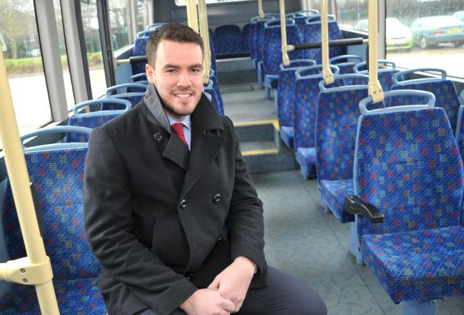 FEB BUS MAN: THAMESDOWN Transport, long troubled by funding issues which impacted on its services, was sold by Swindon Borough Council to private firm Go South Coast. The new general manager, Alex Chutter, said his first task was to reassure staff and pas