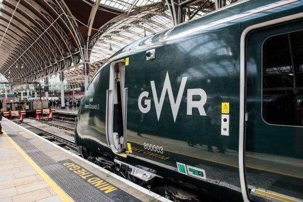 A GWR express at Paddington Station