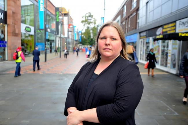 Plans for public spaces protection order for town centre.Pic - Emma Faramarzi ( Cllr ).Date 6/10/15.Pic By Dave Cox.