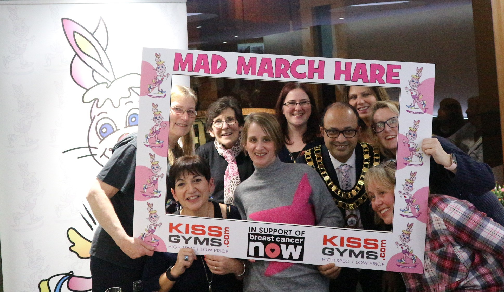 Mayor Junab Ali joins the Mad March Hare team's curry night.