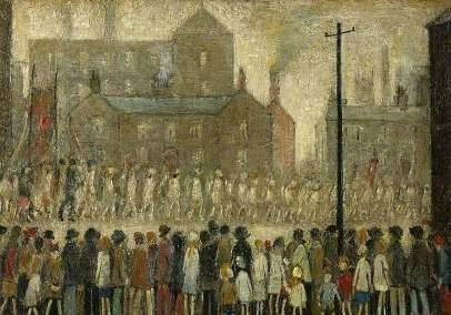 A Procession by LS Lowry