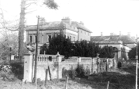 The Lawn mansion house shortly before it was demolished