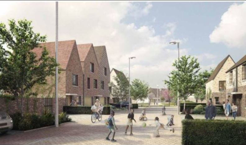 A CGI of the Oakfield development