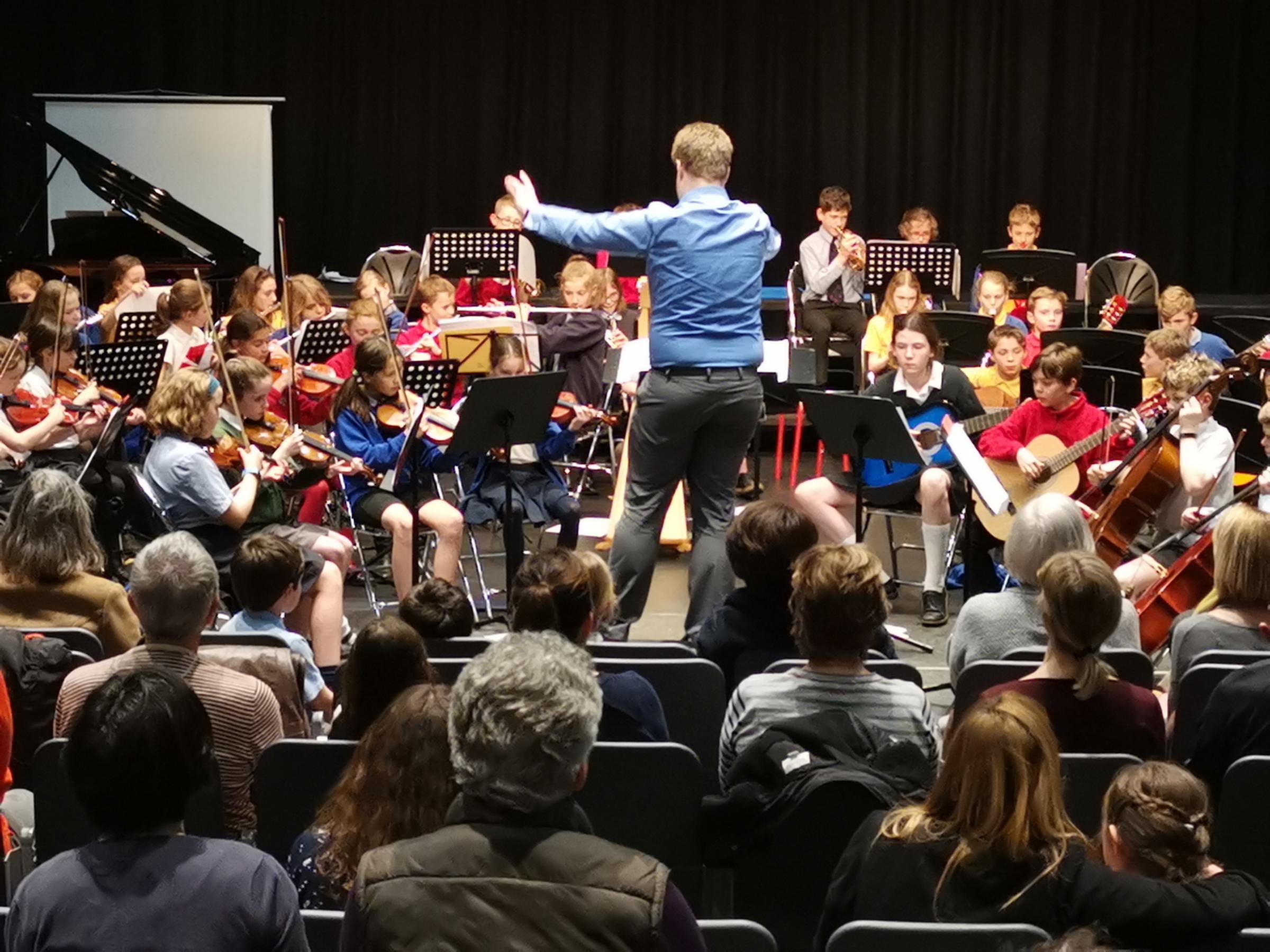 Cricklade school pupils perform in orchestral concert
