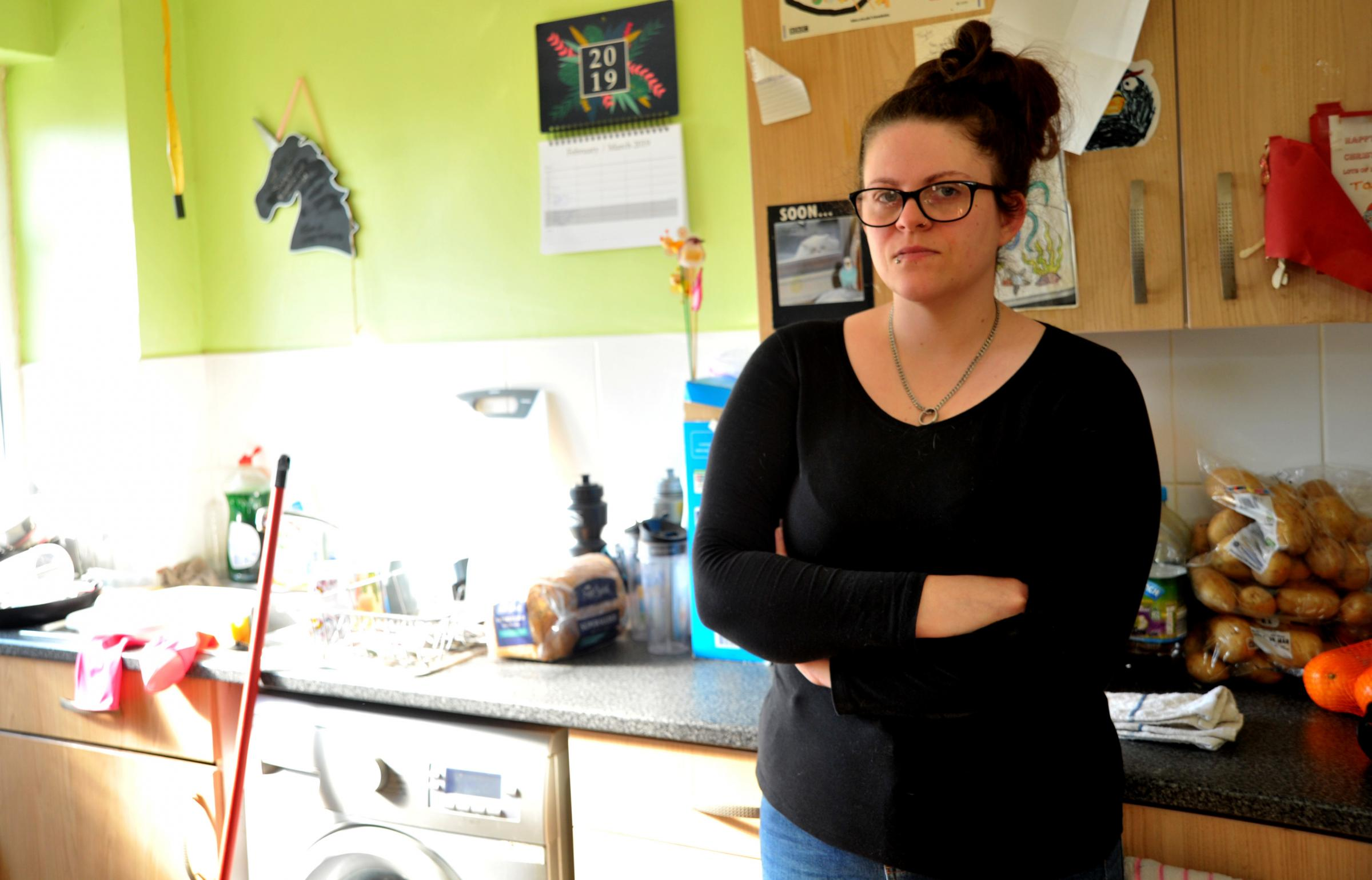 Mum in mouldy council house says 'I want out!'